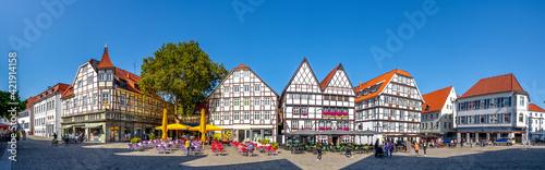 Photographie Marktplatz Panorama, Soest, Nordrhein-Westfalen, Deutschland