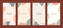 Beautiful Botanical Vertical Background Collection Set