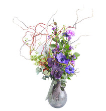 Wedding Bouquet  Isolated On White. Fresh, Lush Bouquet Of Colorful Flowers