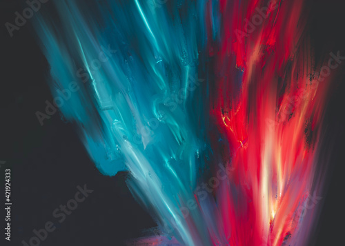 Fotografie, Tablou Abstract colorful background or texture illustration