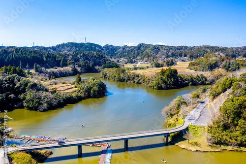 Obraz na plátne 亀山ダム 亀山湖(千葉県君津市)