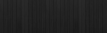 Panorama Of Vintage Old Black Wooden Fence Texture And Background Seamless