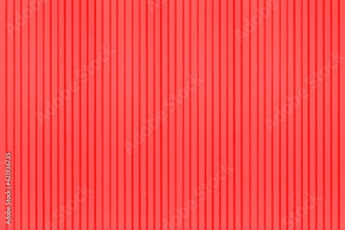 Fototapeta Red Corrugated metal background and texture surface or galvanize steel obraz