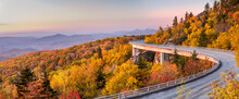 Scenic Drive On The Blue Ridge Parkway At Dawn