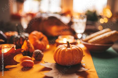 Fototapeta Close-up Of Pumpkins On Table obraz