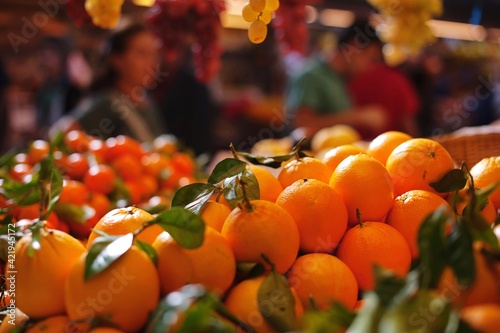 Fototapeta Close-up Of Fruits For Sale At Market Stall
