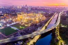 Beautiful Jakarta International Stadium At Sunset