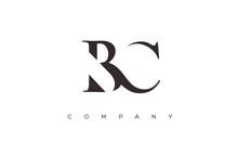 Initial BC Logo Design Vector
