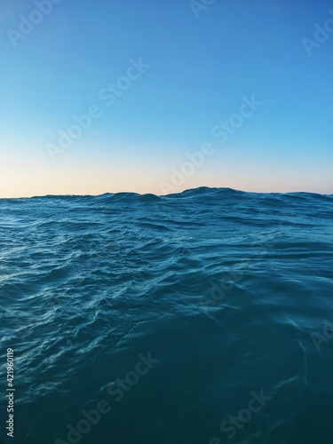 Unique View Of Sea Against Clear Blue Sky