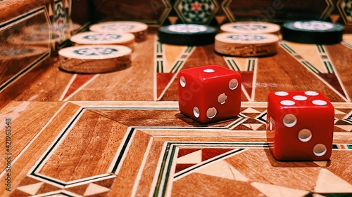 Backgammon Fotobehang