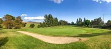 Panorama View Of Hansen Dam Golf Course Pacoima CA