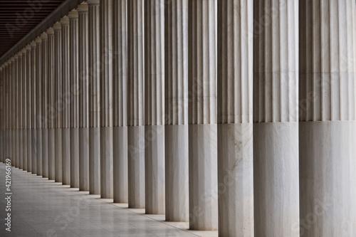 Columns By Corridor Fototapeta