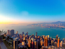 The Scenery Of Victoria Harbour, Hong Kong