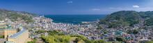 静岡県・高台から望む熱海の風景 パノラマ
