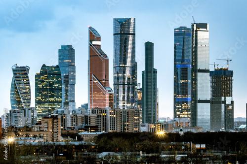 Billede på lærred Moscow City