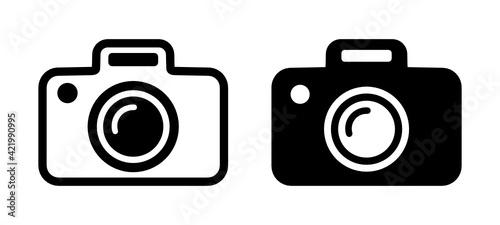 Obraz aparat fotograficzny ikona - fototapety do salonu