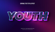 Modern Editable Text Effect Vibrant Modern Color Shiny. Text Style Effect. Editable Fonts Vector Files