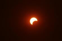 Partial Solar Eclipse Closeup