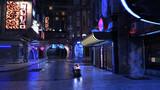 Shining urban night view sci-fi 3d render