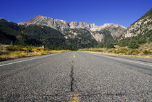 Surface Level Of Road Against Mountain Range