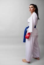 Woman Athlete Kimono Martial Arts