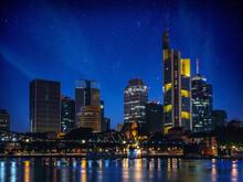 Frankfurt Am Main Skyline In The Night