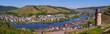 canvas print picture - Zell an der Mosel mit Pulverturm, Rheinlandpfalz, Deutschland, Europa, Panorama