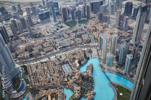 Fotografering Dubai as seen from the top of Burj Khalifa Tower.