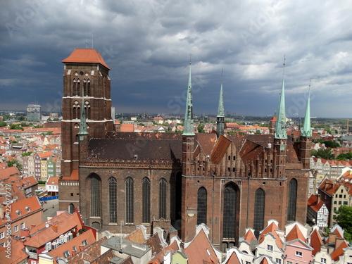 Fototapety, obrazy: Kościół Mariacki w Gdańsku, zabytki sakralne w Polsce,