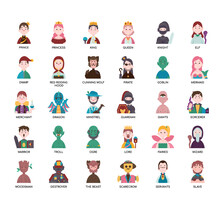 Tale Characters , Thin Line And Pixel Perfect Icons