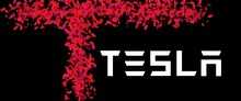 Illustration Of Wordings With The Tesla Symbol