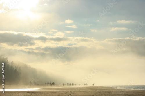 Morning in Latvian beachside Fototapet