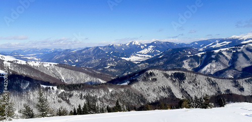 snow covered mountains #422084360