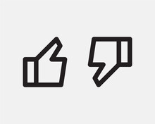 Like Icon Line Design For Media Or Network. Thumb Up Finger Symbol To Web Site, App. Vector Design Vote, Feedback, Ok.