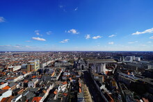 Exclusive Skyline From Antwerp City And Harbors