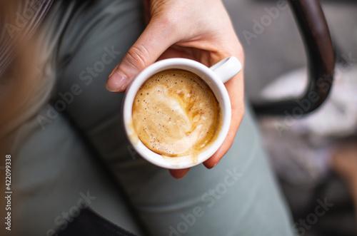 Fototapeta High Angle View Of Coffee Cup obraz