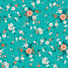 Seamless Floral Pattern With 1