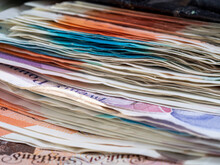 Pile Of British Bank Notes Sterling Cash