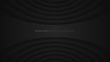 Vector 3D Warped Lines Blurred Effect Dark Gray Futuristic Technology Abstract Background. Rendered Wall. Minimalistic Black Empty Space Abstract Wallpaper