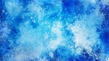 青色、水色のスプラッシュ。氷、清涼感のイメージ