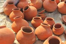 Empty Clay Pots.