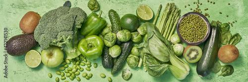 Billede på lærred Fresh green vegetables