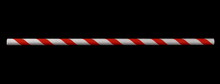 Paper Straw Isolated On Black Background And Texture With Clipping Path, Eco Friendly