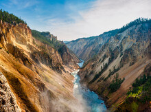 View Downstream Of The Grand Canyon Of Yellowstone