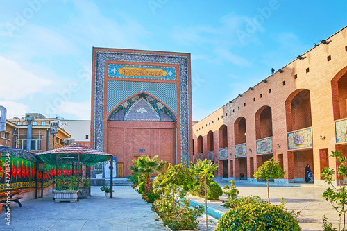Fotografie, Obraz The courtyard of Cultural Complex of the Islamic Revolution martyrs in Tehran, I