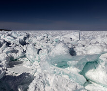 Ice Chaos At The Straits Of Mackinac