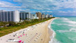 canvas print picture - aerial view of South Beach, Miami, Florida