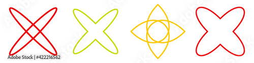 Canvas Abstract motif, mandala shape design element