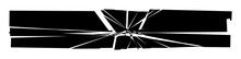 Shattered, Fractured, And Broken Geometric Rectangle. Burst, Explosion Effect. Ruptured, Broken Glass, Pane