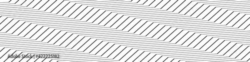 Zig-zag, crisscross Lines horizontal rectangle pattern, background. Seamless, Repeatable